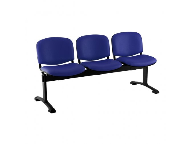kozena lavice iso 3 sedak cerne nohy modra
