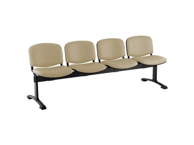 kozena lavice iso 4 sedak cerne nohy bezova