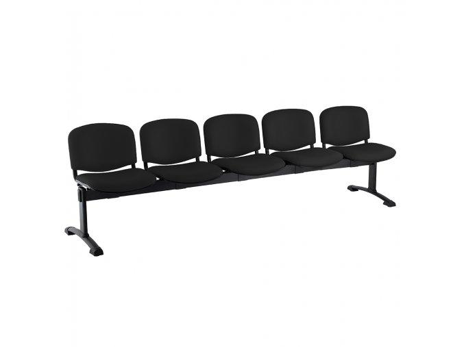 kozena lavice iso 5 sedak cerne nohy cerna