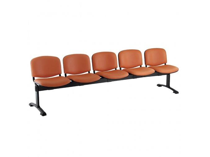 kozena lavice iso 5 sedak cerne nohy oranzova