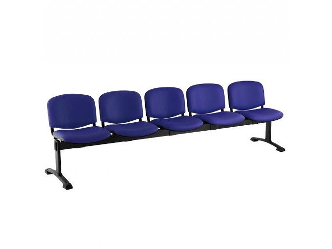 kozena lavice iso 5 sedak cerne nohy modra