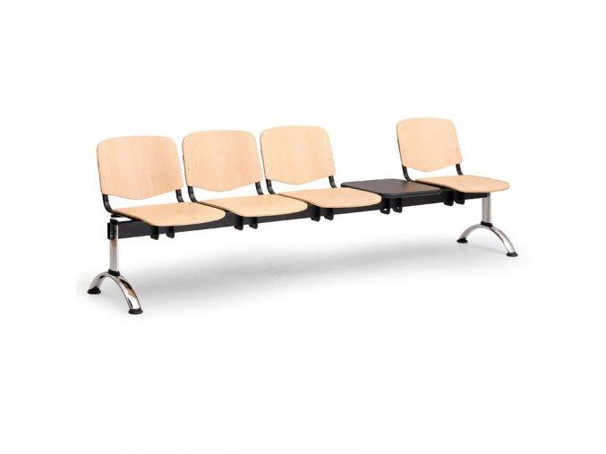 drevene lavice iso ii 4 sedak stolek chrom nohy