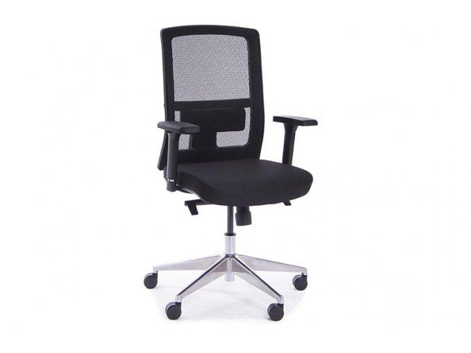 Kancelářská židle Adelis-černá  + Prodloužená záruka 5 let ZDARMA