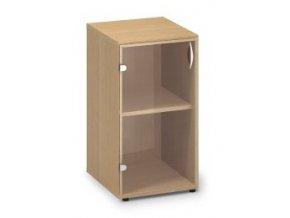 Skleněná skříň Pro Office 40x45,8x73,5 cm levá