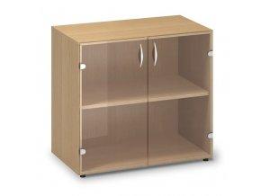 Skleněná skříň Pro Office 80x45,8x73,5 cm