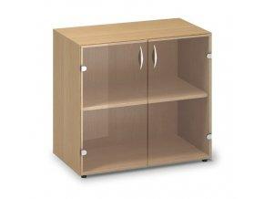 Skleněná skříň Pro Office 80x45,8x74,2 cm