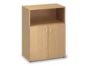 Kancelářská skříň Pro Office 80x47x106,3 cm dveře/nika