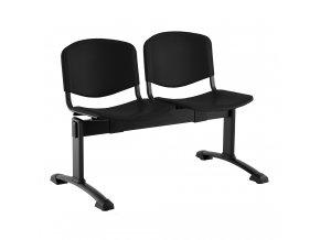 plastove lavice iso i 2 sedak cerne nohy cerna