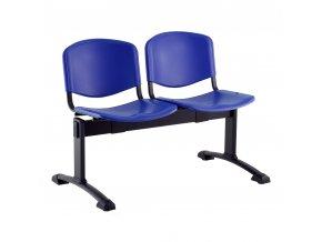 plastove lavice iso i 2 sedak cerne nohy modra