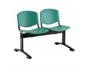 plastove lavice iso i 2 sedak cerne nohy zelena