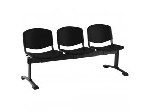 plastove lavice iso i 3 sedak cerne nohy cerna