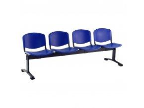 plastove lavice iso i 4 sedak cerne nohy modra