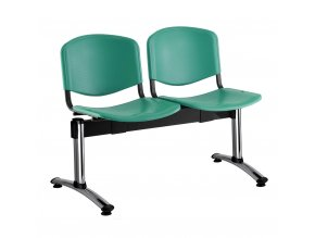 plastove lavice iso i 2 sedak chromovane nohy zelena