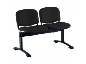 kozena lavice iso 2 sedak cerne nohy cerna