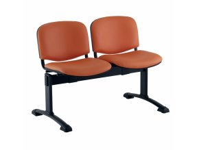 kozena lavice iso 2 sedak cerne nohy oranzova