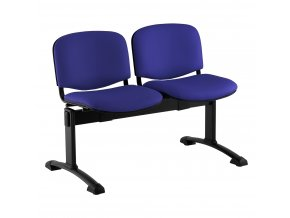 kozena lavice iso 2 sedak cerne nohy modra