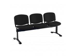 kozena lavice iso 3 sedak cerne nohy cerna