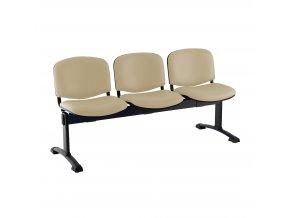 kozena lavice iso 3 sedak cerne nohy bezova