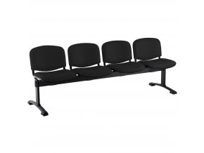 kozena lavice iso 4 sedak cerne nohy cerna