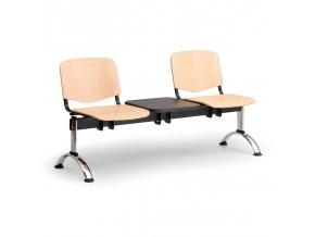 drevene lavice iso ii 2 sedak stolek chrom nohy