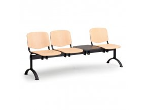 drevene lavice iso ii 3 sedak stolek cerne nohy