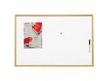 Magnetická tabule lakovaný povrch, dřevěný rám 90x60