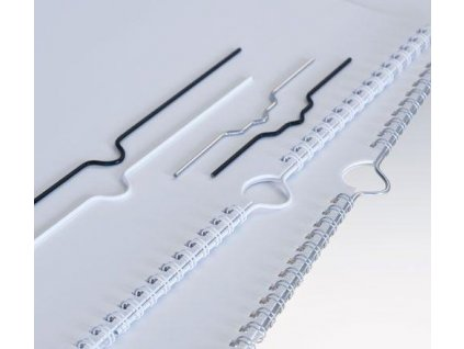 háčky 105 mm stříbrné do kalendář.vazby