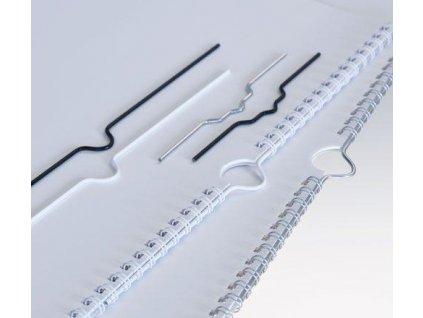 háčky střbrné 200mm do kalendářové vazby