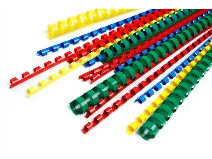 Žluté kroužky pro vazbu 28 mm