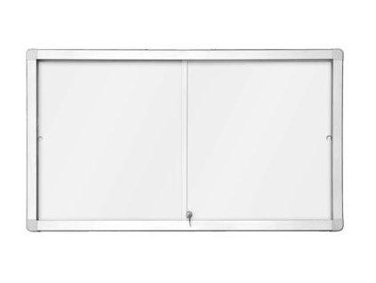 Horizontální magnetická vitrína s posuvnými dveřmi 141x 101 mm (18xA4)