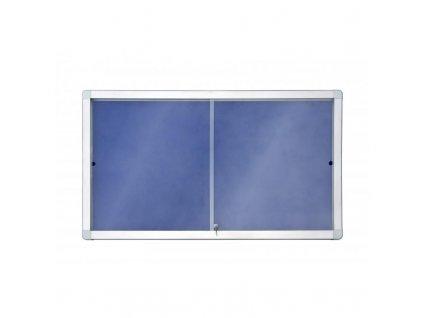Horizontální vitrína  141 x 70 mm (12xA4) modrý filc