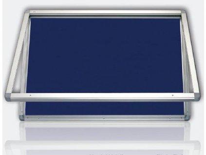 Venkovní vitrína s horizontálním otevíráním, výplň filc, filc, 75 x 70 cm