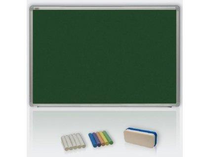Zelená magnetická tabule pro popis křídou 100x200 - keramická, ALU23