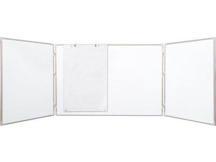 magnetická rozkládací tabule, trojdílná, lakovaná