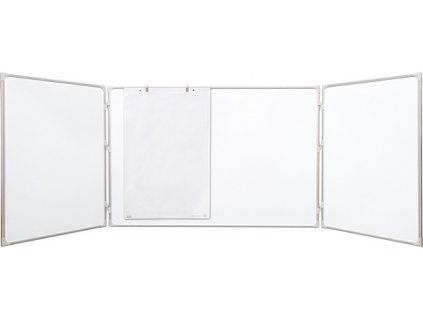 magnetická rozkládací tabule, trojdílná, keramická