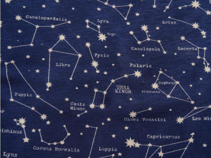 Úplet souhvězdí na modré