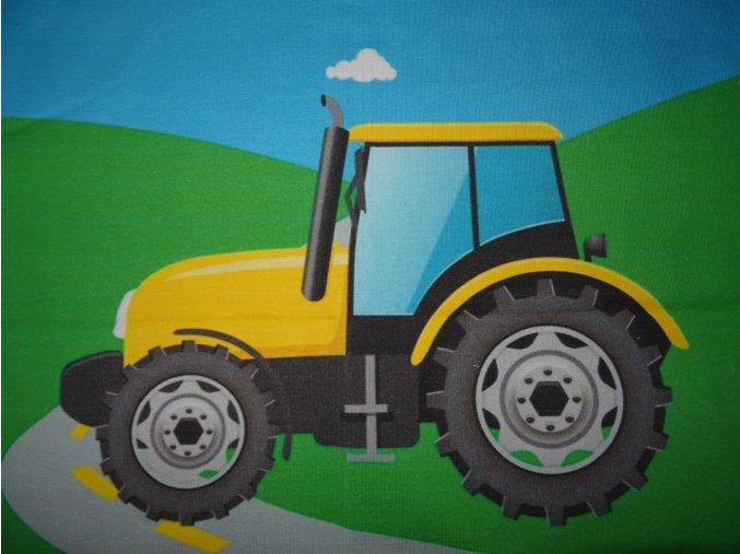 Panel z teplákoviny traktor