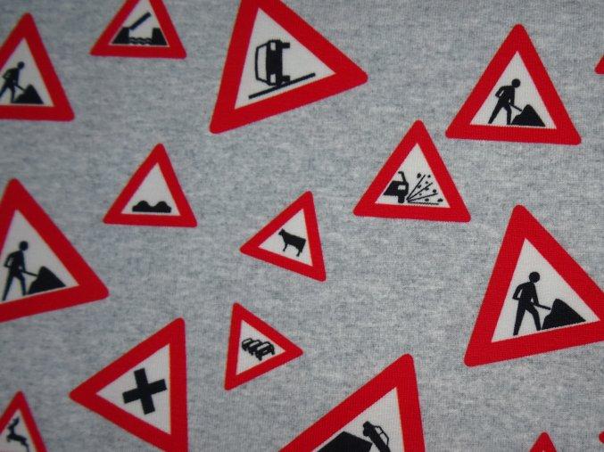 Teplákovina dopravní značky