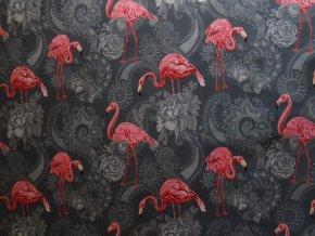 Softshell zimní Plameňáci na šedé
