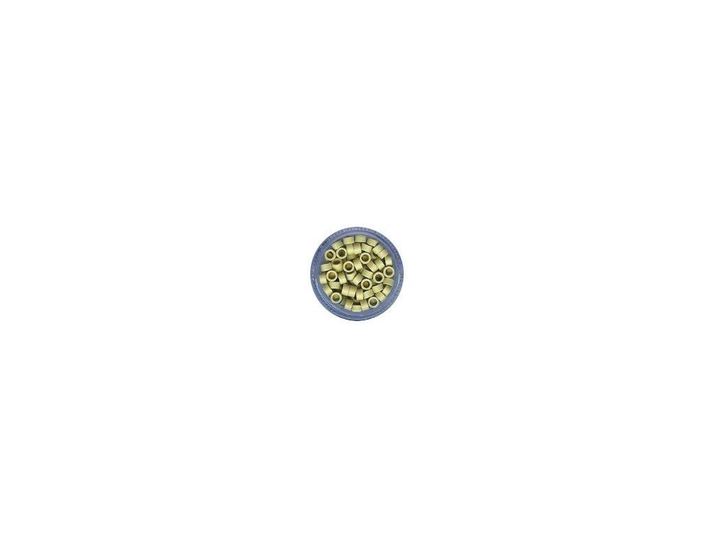 Kroužky Micro Ring 4.5mm, bez protiskluzu, 100ks, plavá blond