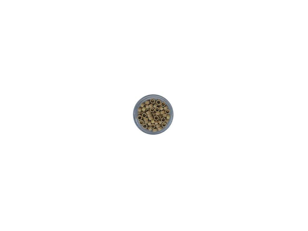 Kroužky Micro Ring 4.5mm, bez protiskluzu, 100ks, střední blond