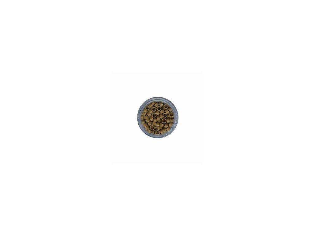 Kroužky Micro Ring 4.5mm, bez protiskluzu, 100ks, tmavá blond