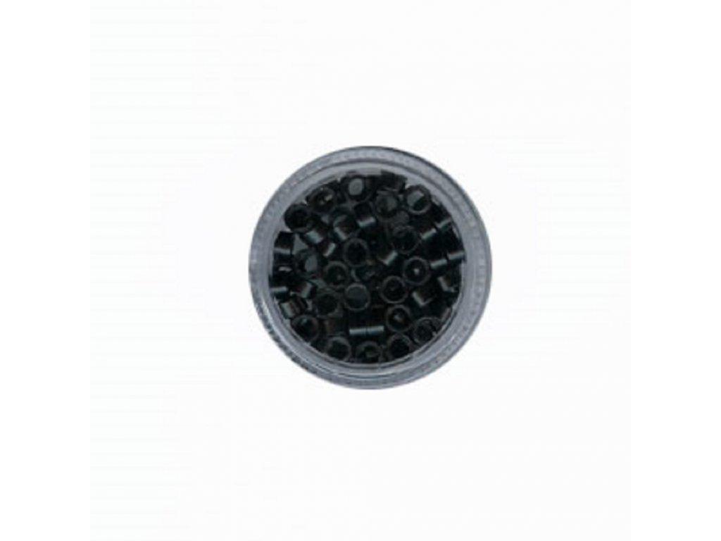 Kroužky Micro Ring 4.5mm protiskluz, 100ks, černé
