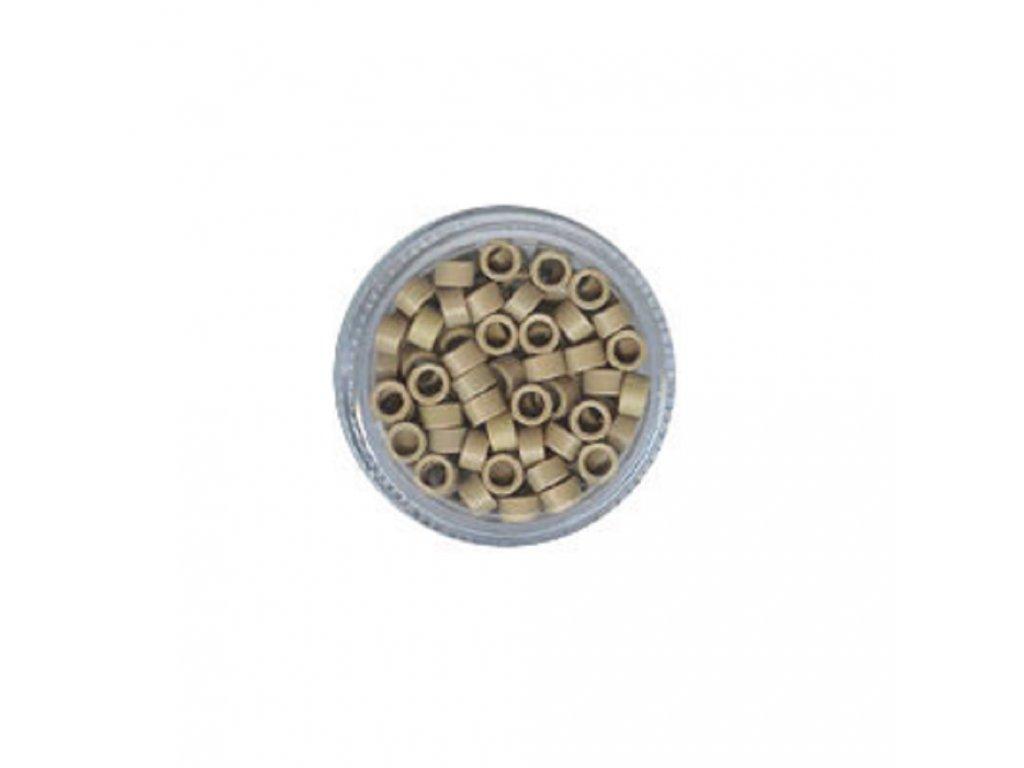 Kroužky Micro Ring 4.5mm protiskluz, 100ks, platinová blond