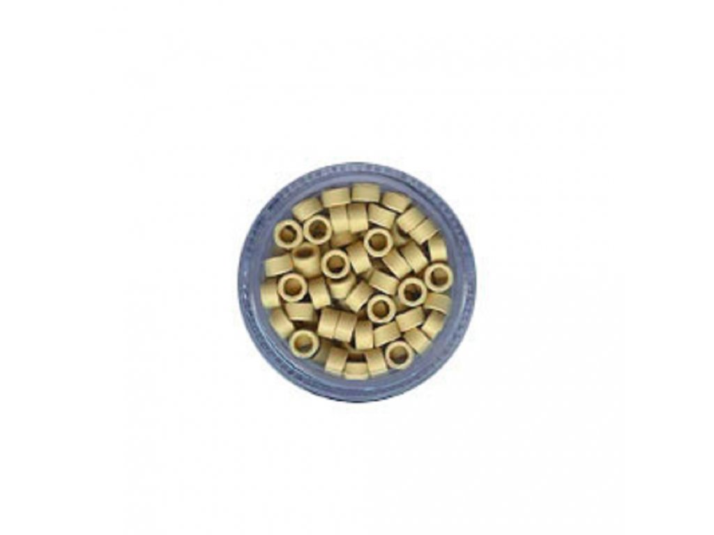 Kroužky Micro Ring 4.5mm protiskluz, 100ks, plavá blond