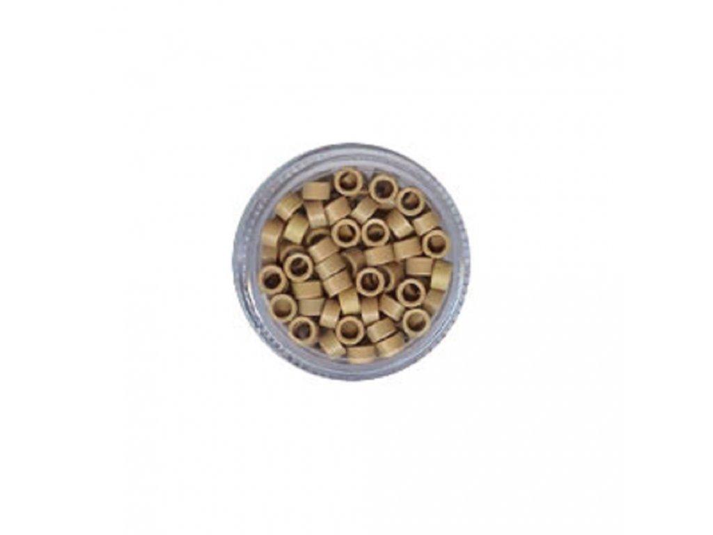 Kroužky Micro Ring 4.5mm protiskluz, 100ks, střední blond