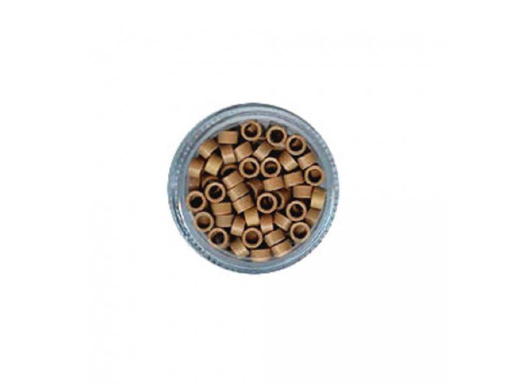 Kroužky Micro Ring 4.5mm protiskluz, 100ks, tmavá blond
