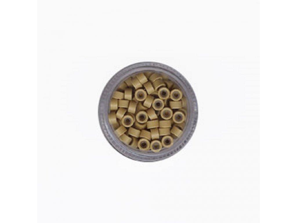 Kroužky Micro Ring 4.5mm silikon, 100ks, tmavá blond