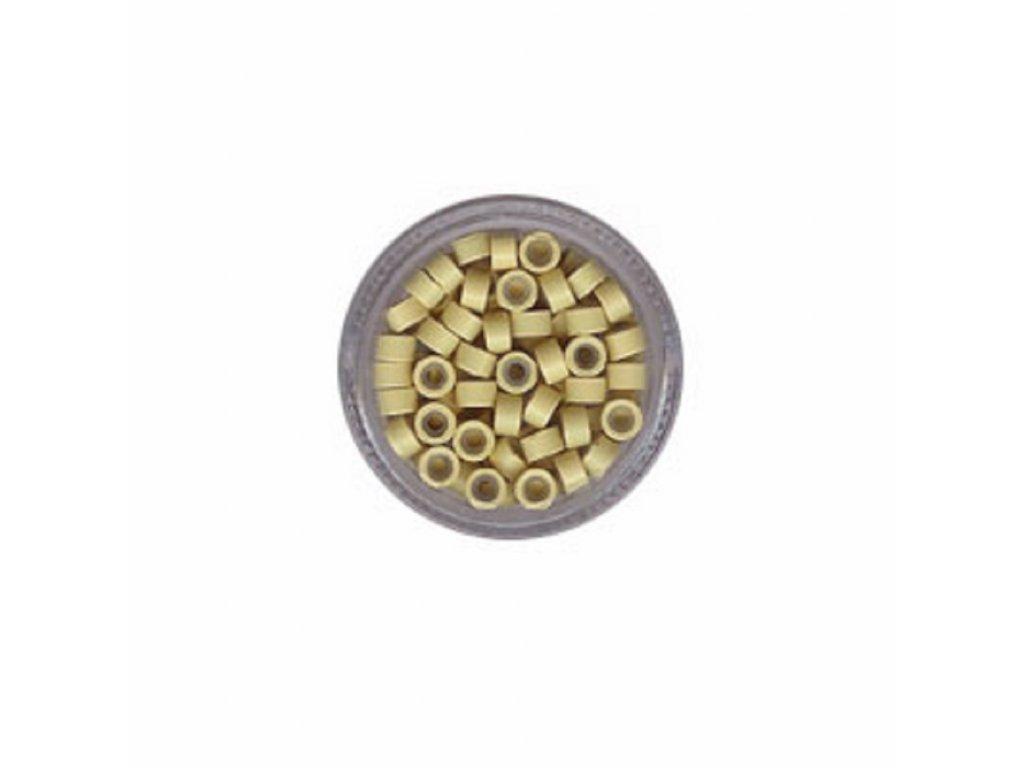 Kroužky Micro Ring 5.0mm silikon, 100ks, světlá blond