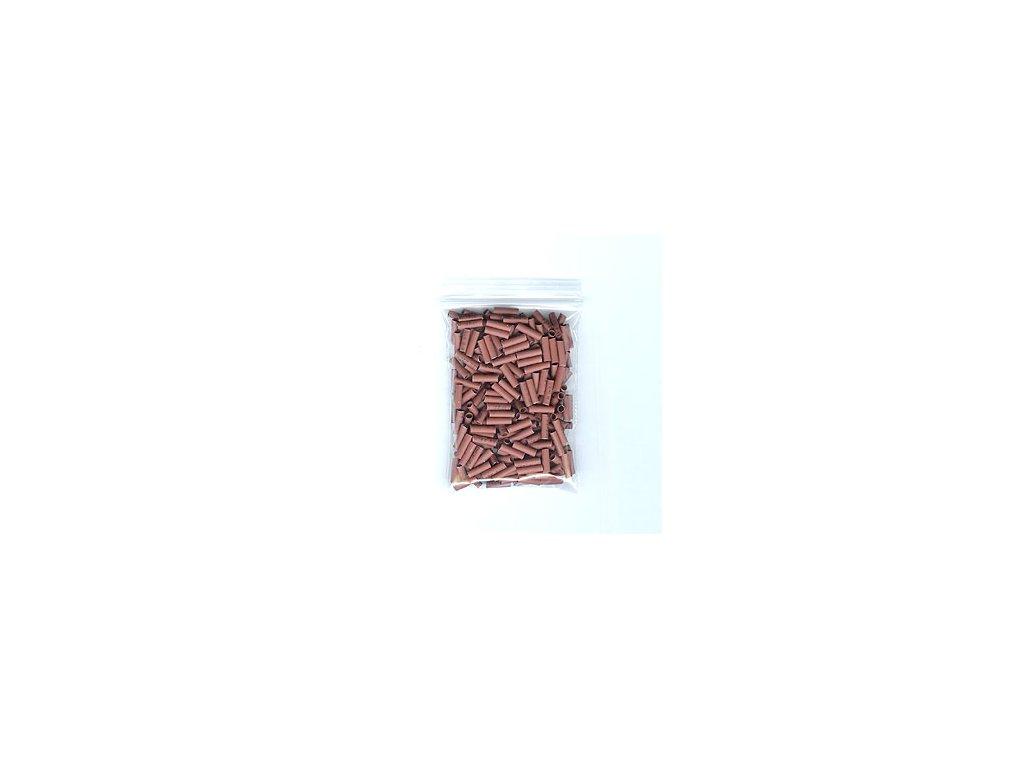 Smršťovací trubičky na prodlužování vlasů 100ks, 3mm, hnědé